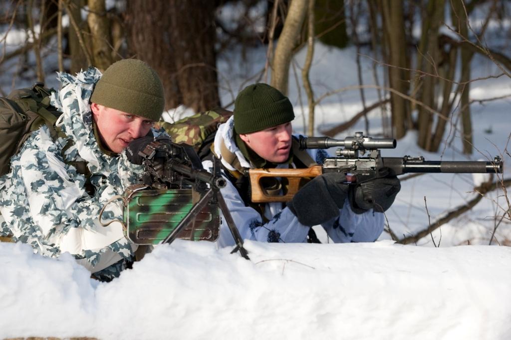Бойцы разведывательных соединений и воинских частей