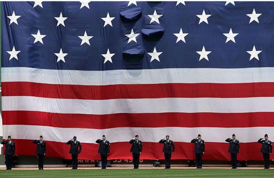 Флаг США на Дне независимости